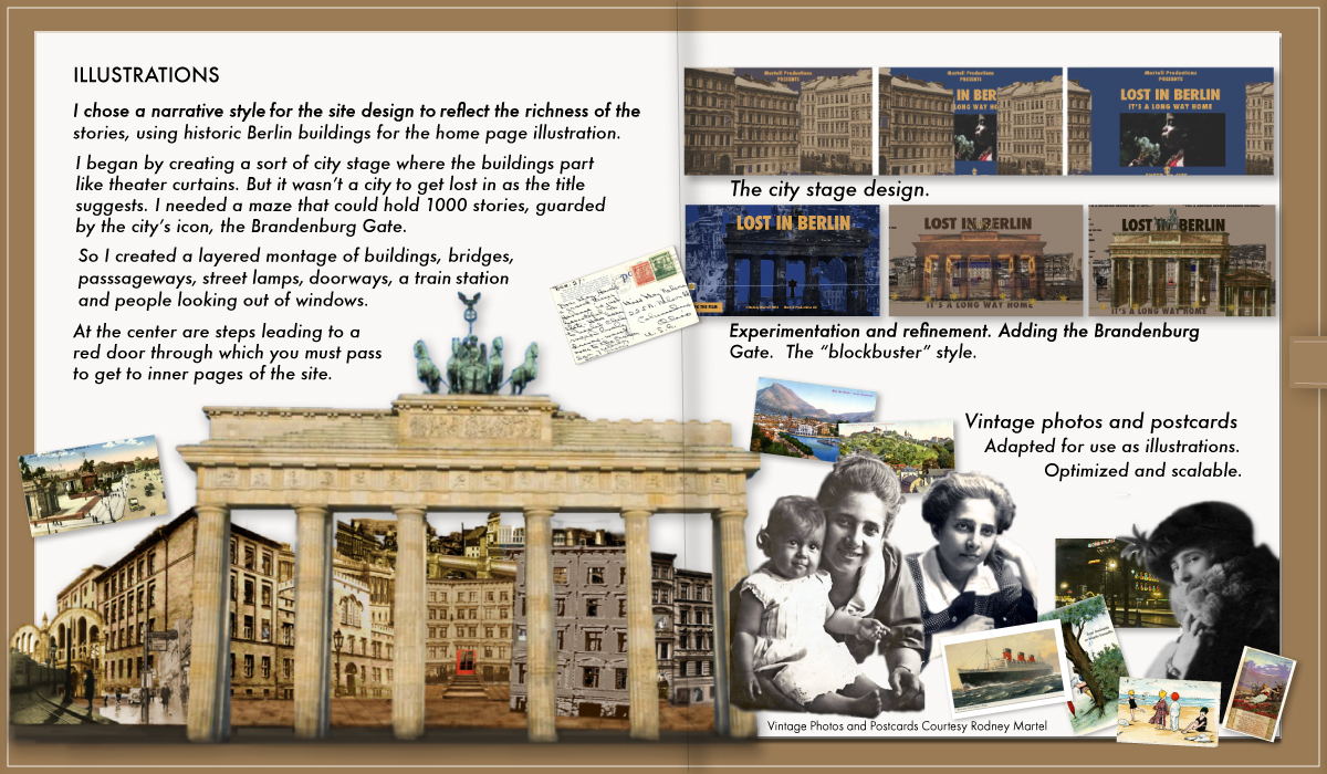 Lost In Berlin interactive digital Journal pages 3-4
